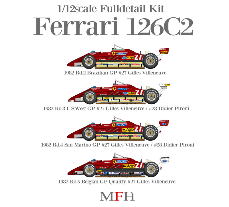 Ferrari 126 C2 1982 Early Season 1 12 K433 K436 4